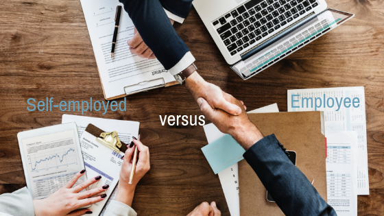 What are the tax differences between being an employee and self-employed?